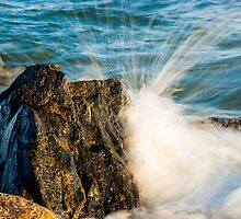 The Splash - Atlantic Wave Meets Jersey Rock by Murph2010