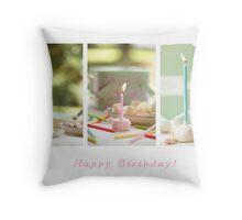 Happy Birthday Sweetie! Throw Pillow