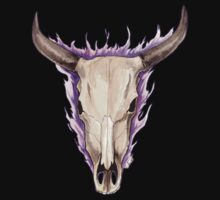 Flaming Skulls - Ox by drakhenliche