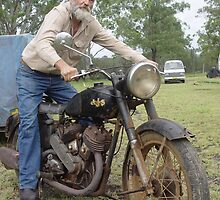 AJS MOTORCYCLE I by Gary Kelly
