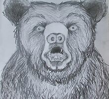 Bear sketch - to be continued... by katie quinn