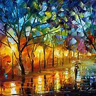 The Gift Of Night - original oil painting on canvas by Leonid Afremov by Leonid  Afremov