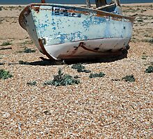 Fishing Boat on Dungeness Beach by Liz Garnett