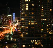 Surfers Paradise on a Saturday Night by aussiebushstick