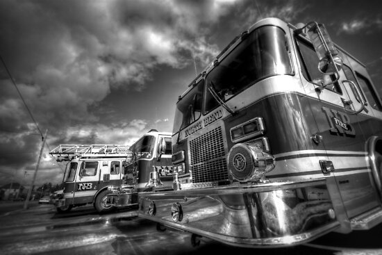 Fire Trucks and Chrome by Avena Singh