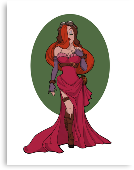 Steampunk Jessica Rabbit by Karen  Hallion