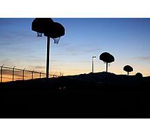 Basketball at Sundown Photographic Print