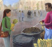 Chestnuts Vendor by Peter Worsley