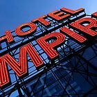 Empire Hotel with a perfect sky by jbbphotography