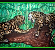 leopard fight by josh astuto