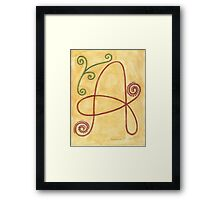 A is for Ability Framed Print
