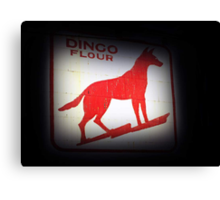 Dingo Flour Sign - Fremantle Western Australia  Canvas Print