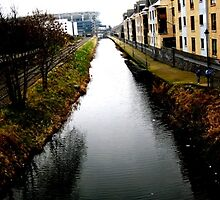 Canal looking from Drumcondra to Croke park, Dublin Ireland by heartyart
