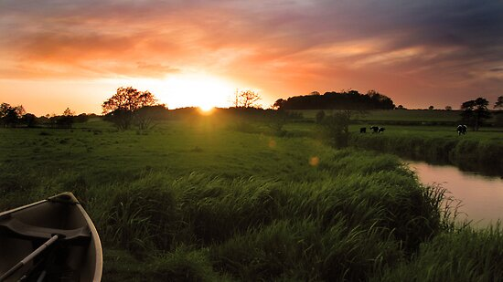 Homersfield Sunset by Nicholas Jermy