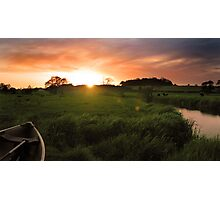 Homersfield Sunset Photographic Print