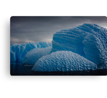 Heavily Patterned Iceberg Antarctica Canvas Print