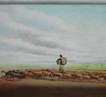 nomades with flock on the silk rout by artpk2009