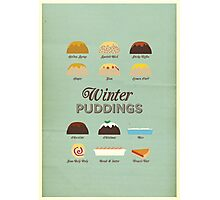Winter Puddings - A selection of British Classics Photographic Print