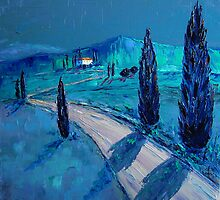 Tuscan night by Claudia Hansen
