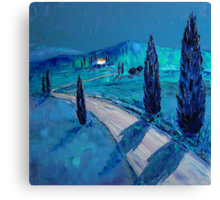 Tuscan night Canvas Print
