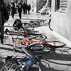 these bikes fall like domino's by Toni pepper