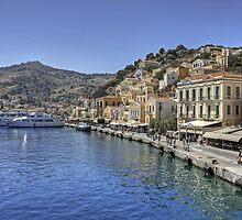 Symi Waterfront by Tom Gomez