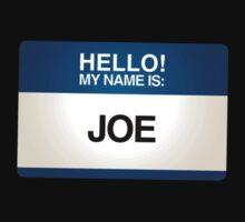 NAMETAG TEES - JOE by webart