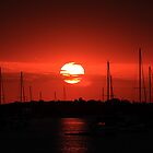 beautiful sunrise over the harbor by kathy s gillentine