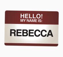 NAMETAG TEES - REBECCA by webart