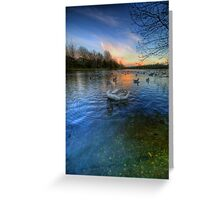 Sunset Blues Greeting Card