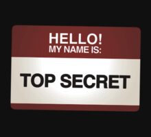NAMETAG TEES - TOP SECRET! by webart
