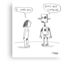 robotic love Canvas Print