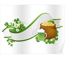 St. Patrick's Day ribbon Poster