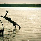 Diving in to the lake by neatfoto