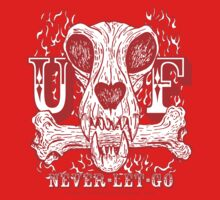 UNDERDOG skull & bone, red by Underdogg