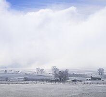 A Blue Sky Promise Over Snowy Countryside by DonnaBoley
