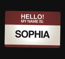 NAMETAG TEES - SOPHIA by webart