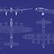 Avro Lancaster Bomber Blueprint by ArtPrints