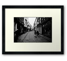 SHOPPING.. WALKING...LIFE GOES ON..!! Framed Print