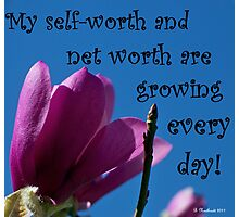 Skyward Affirmation - Prosperity Verse Photographic Print
