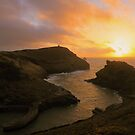 Cornwall: Sunset at Boscastle Harbour by Rob Parsons
