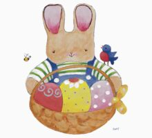 little bunny with his basket by paintpaintdraw