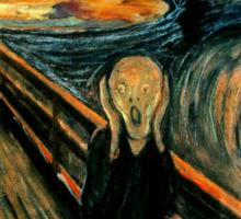 Don't Panic - Scream! Sticker