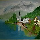 Austrian Lake & Mountains by Louise Griffiths