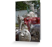 Route 66 - Mule Trading Post Greeting Card