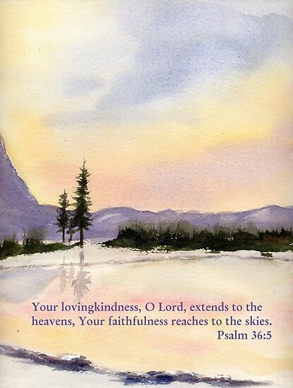 Amazing Love!  - Psalm 36:5 by Diane Hall