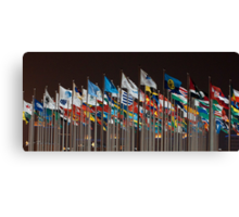 Flags, loads of them:) Canvas Print