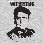 Charlie Sheen Winning T shirt-Blank Background by designerjenb