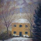 Farmhouse, Winter Dawn by Susan Genge