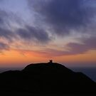 Cornwall: Boscastle Watchtower in Silhouette by Rob Parsons